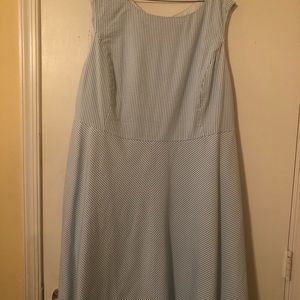 Women's Lands End Seersucker Dress - size 18W
